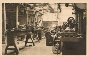 L'atelier des machines de l'école de rééducation professionnelle de l'Impasse de la Baleine © IHS CGT métallurgie