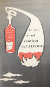 Dépliant du Centre national de défense contre l'alcoolisme [1956-1957] © archives SNMT