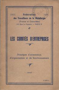 Brochure fédérale sur les comités d'entreprise (1947) | coll. IHS CGT métallurgie