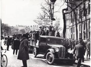 Manifestation de chômeurs durant les année trente © IHS CGT Métaux