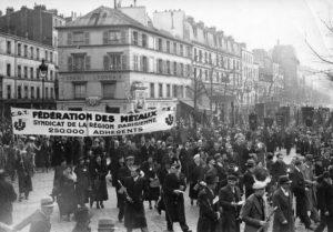 Cortège du syndicat CGT des métaux de la Seine [1937-1938] © IHS CGT Métallurgie