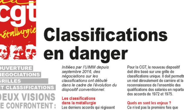 TRACT | CLASSIFICATIONS EN DANGER