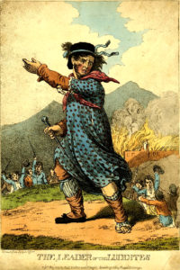 Ned Ludd grimé en femme (1812) © Wikimedia commons | Working Class Movement Library