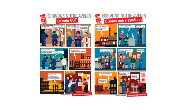 AFFICHES | BD «créons notre syndicat» et » Le vote CGT»