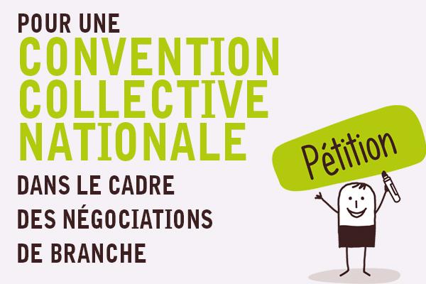 PÉTITION | Pour une Convention collective Nationale dans le cadre des négociations de branche