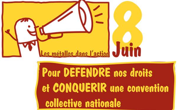 JOURNEE d'ACTIONS LE 8 JUIN | Pour défendre nos droits et conquérir une convention collective nationale