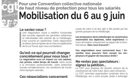 MOBILISATION | 6 au 9 juin pour une Convention collective nationale