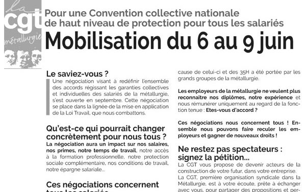 MOBILISATION | 6 au 9 juin pour une Convention collective nationale