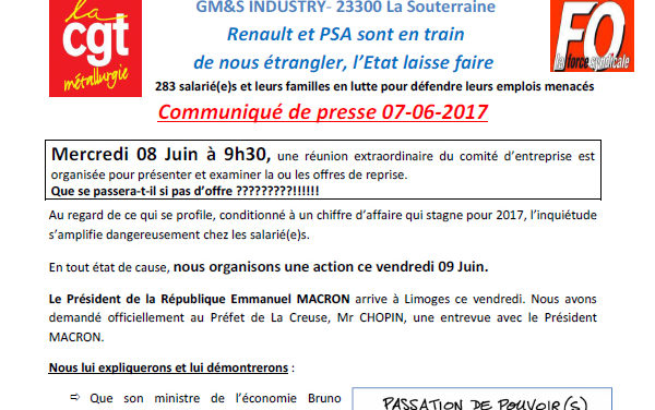 GM&S industry | Interpellation du président de la République