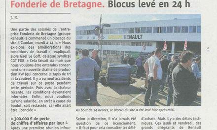 Fonderie de Bretagne | Grève gagnante pour améliorer les conditions de travail