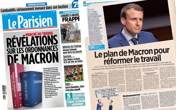 La réforme du travail selon Macron-Philippe
