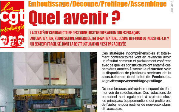 Dossier | Quel avenir pour l'emboutissage/découpe/profilage/assemblage