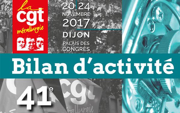 41e congrès | bilan d'activité
