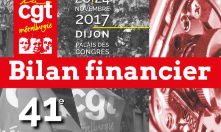 41e congrès | Bilan financier