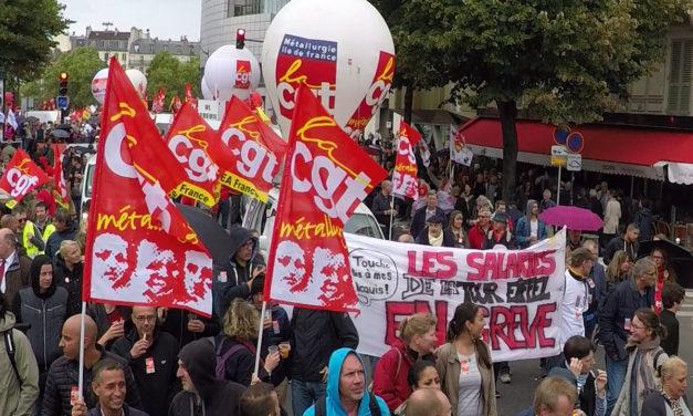 12 septembre : près de 500.000 manifestants en France dont 60.000 à Paris