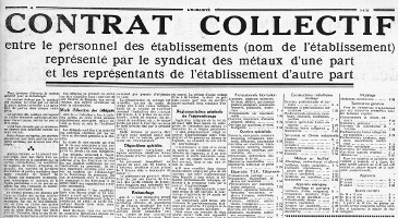 Un siècle d'accords nationaux de classifications (1)