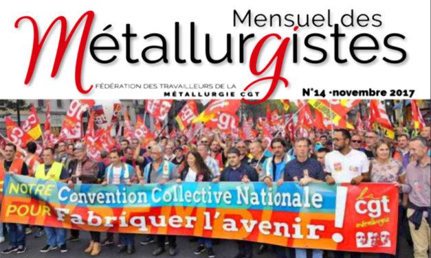 Mensuel des Métallurgistes de novembre en ligne : mobilisation !