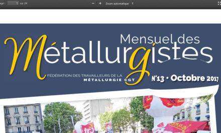 Mensuel des Métallos d'octobre en ligne : les jeunes à l'honneur