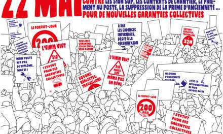 22 mai | Journée nationale d'actions public ou privé, Même combat pour des garanties collectives de haut niveau