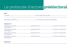 Le protocole d'accord préélectoral