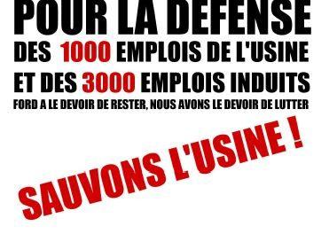FORD | Manifestation «sauvons l'usine» le 30 juin à Bordeaux