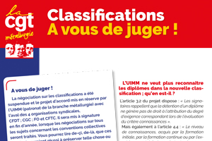 Classifications, à vous de juger !