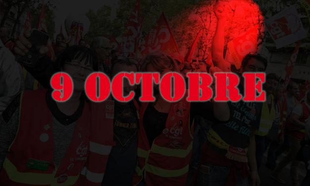 Appel du CEF : journée d'action interpro et unitaire du 9 octobre