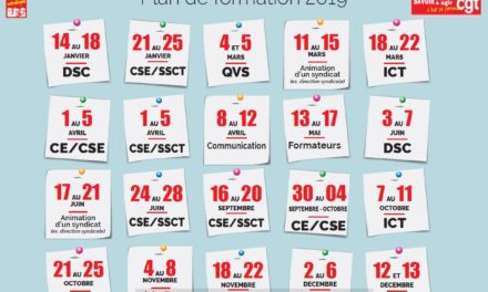 Calendrier 2019 des stages fédéraux