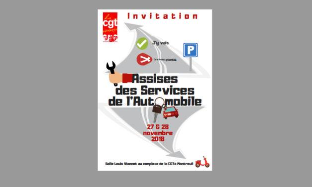 Assises des services de l'automobile les 27 et 28 novembre prochains