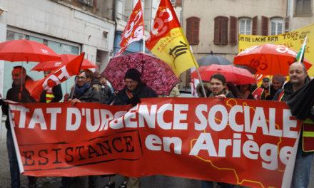 Manif du 5 février à Pamiers, mobilisation importante pour le petit département de l'Ariège (158 000 habitants)