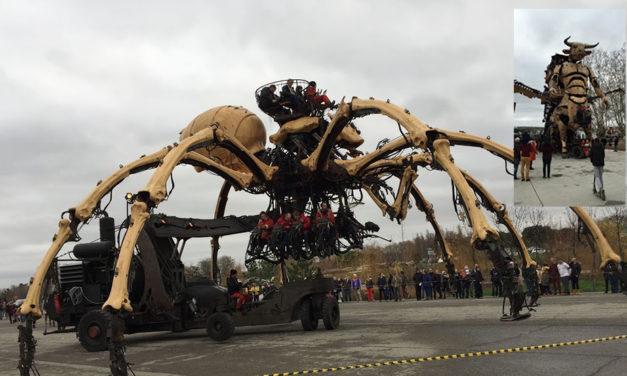 De curieuses machines de spectacle à Toulouse depuis fin 2018