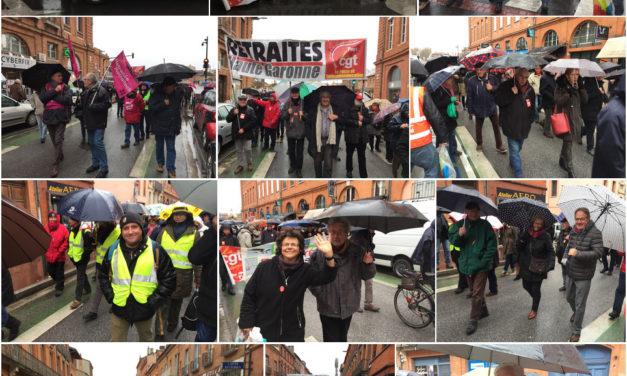 Manifestation retraités à Toulouse hier (31/01/2019), des photos