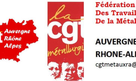 Déclaration des retraités de la métallurgie CGT de la région AURA