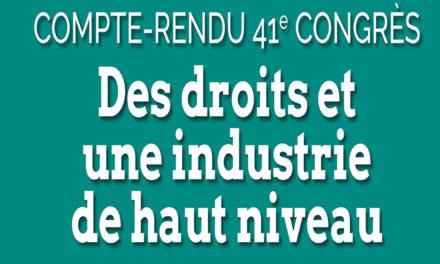 41e congrès | Compte rendu des travaux