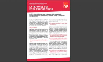 Tract «la réponse CGT en 19 propositions» suite au grand débat