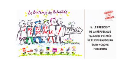 La carte pétition des retraités pour l'Élysée