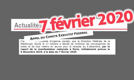 Report de la manifestation nationale du 6 décembre à Paris
