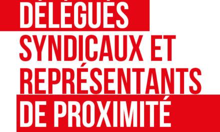Formation des délégués syndicaux et des représentants de proximité