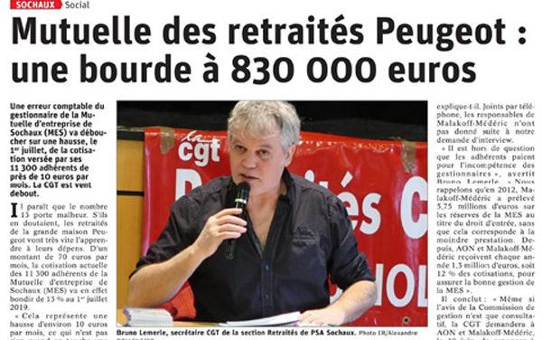Limitation de la hausse de la Mutuelle des retraités  Peugeot de Sochaux