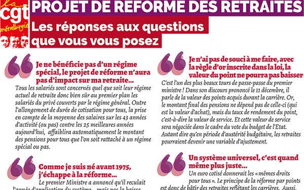 Tract & AFFICHES | questions-réponses sur le projet de réforme des retraites