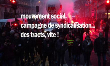 Mouvement social, campagne de syndicalisation