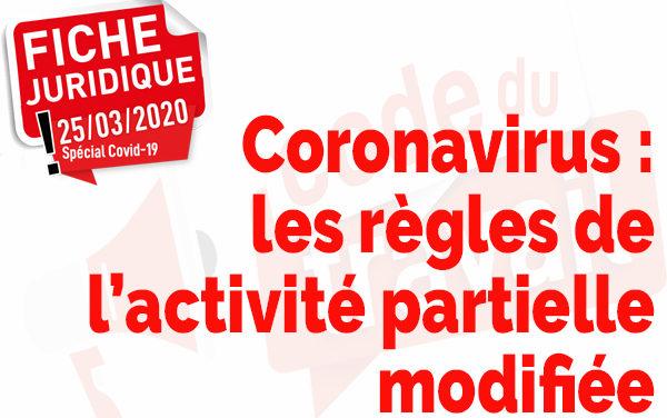 Coronavirus: les règles de l'activité partielle modifiées