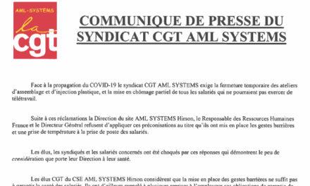 Coronavirus : AML Systems dans l'Aisne toujours mobilisé