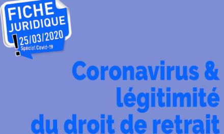 Coronavirus : légitimité du droit de retrait
