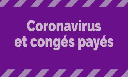 Mesures coronavirus et congés payés