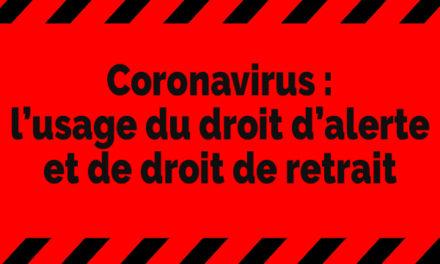 Coronavirus: l'usage du droit d'alerte et de droit de retrait
