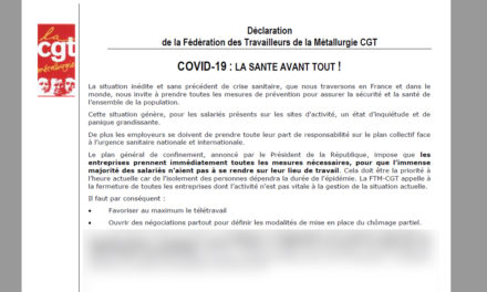 Déclaration FTM : COVID-19, LA SANTÉ AVANT TOUT !