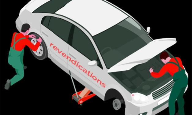 Dans la période, revendications des services auto/garages (tract)