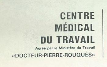 Le centre médical du travail