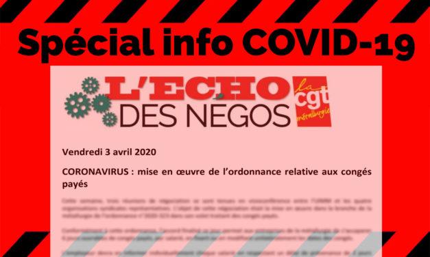 CORONAVIRUS : ordonnance relative aux congés payés, déclaration FTM-CGT